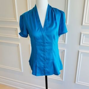 Express Puff Sleeve Blouse | Baby Blue | Size S